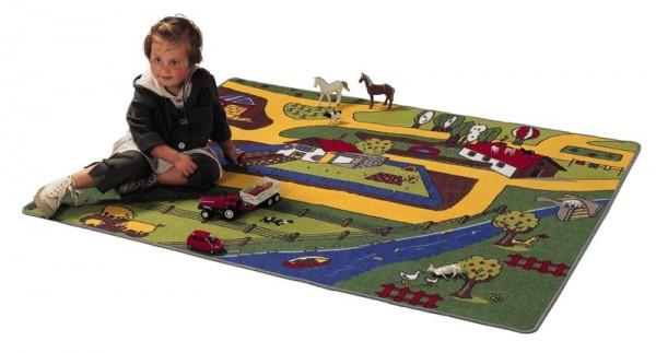 Spielteppich Bauernhof 133x165cm