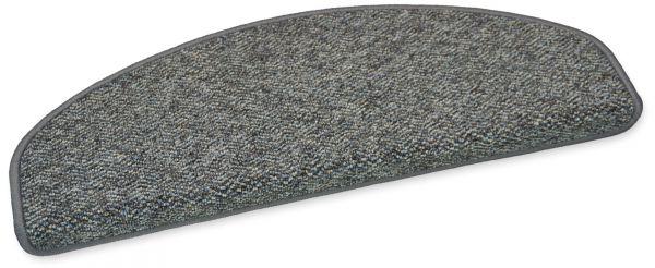 Stufenmatte Capri grau 65x23 halbrund