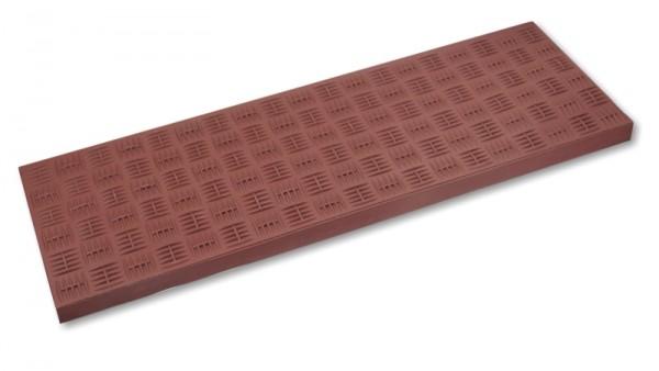 Gummi Stufenmatten Riffelblech optik - braun