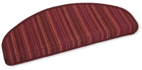 Sisal Stufenmatten Streifen rot 50x20cm