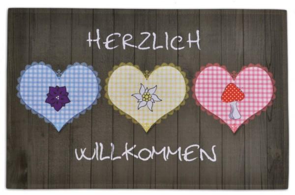 Gallery-Fußmatte Herzlich Willkommen