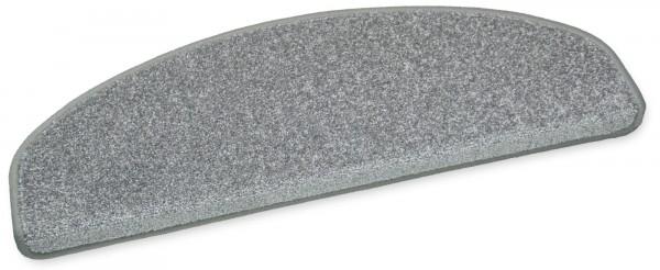 Exklusive Stufenmatte GALA grau 65x23 halbrund