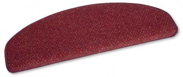 VORWERK-Stufenmatte Luxor 01 rot 50x20 halbrund