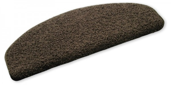 Stufenmatten Shaggy Hochfloor dunkelbraun