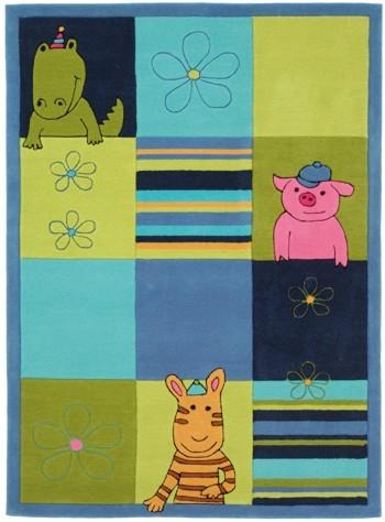 Kinderteppich Lifestyle blau 120x80