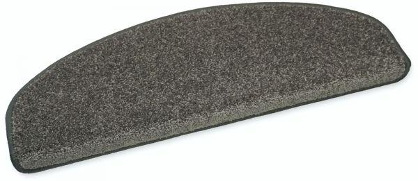 Weiche Stufenmatte Elegance anthrazit 65x23 halbrund