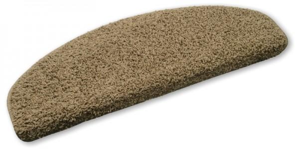 Stufenmatten Shaggy Hochfloor hellbraun