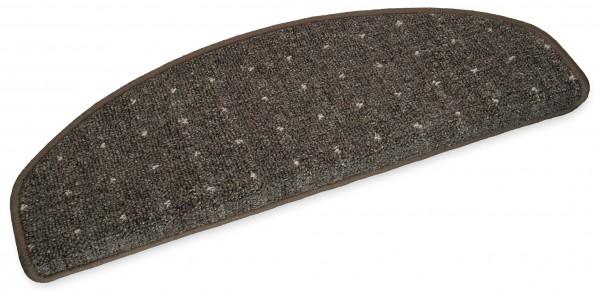 Stufenmatten Speedy braun halbrund