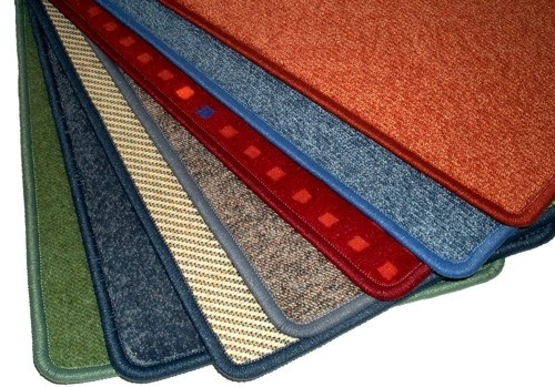 10 gekettelte Fußmatten 60x40cm - farblich gemischt