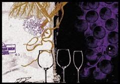 Waschbare Sauberlaufmatte Vino Tinto