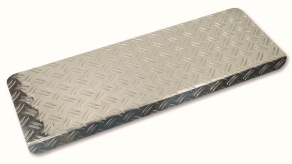 Stufenmatten aus Alu Riffelblech 65x23cm eckig