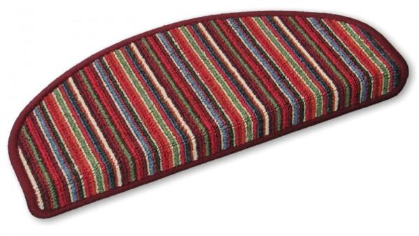 Stufenmatten Stripes rot 50x20cm