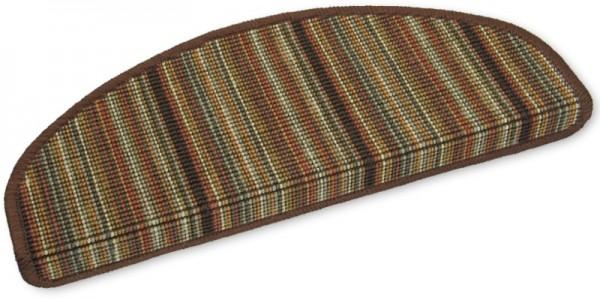 Sisal Stufenmatten Streifen rost-braun 50x20cm