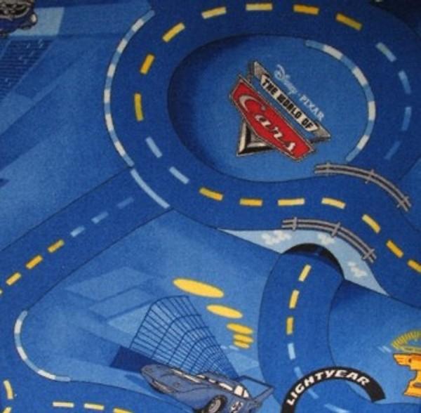 Kinderteppich Cars blau