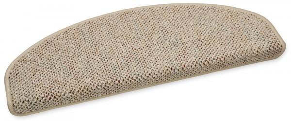 Stufenmatte Astor beige halbrund