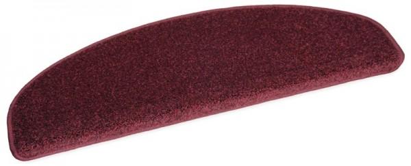 Velours-Stufenmatte MADRID rot 75x24 halbrund