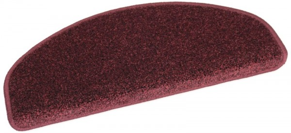 Velours-Stufenmatte MADRID rot 50x20 halbrund