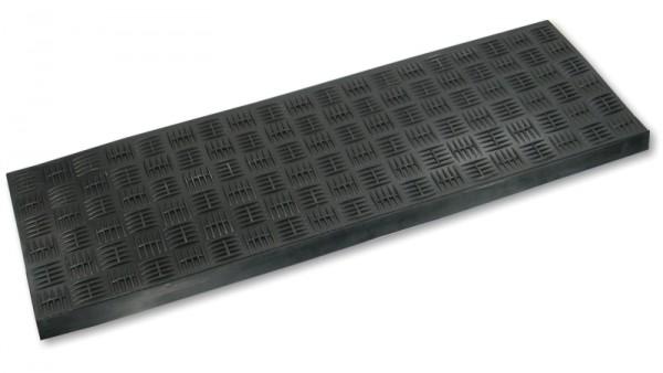 Gummi Stufenmatten Riffelblech optik - schwarz