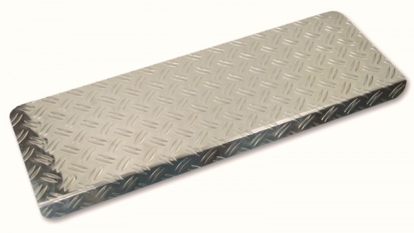 Stufenmatten Alu Riffelblech 65x27cm eckig