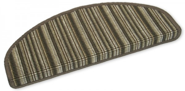 Sisal Stufenmatten Streifen dunkelbraun 50x20cm