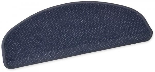 Hochwertige Stufenmatte Sylt dunkelblau 50x20