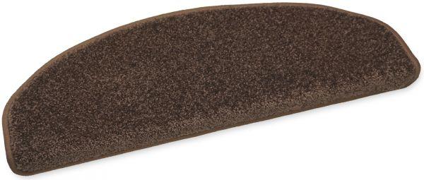 Weiche Stufenmatte Elegance dunkelbraun 65x23 halbrund