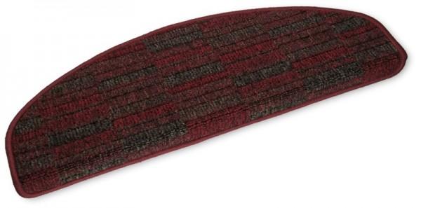 Stufenmatten Prestige halbrund rot