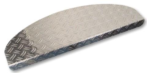 Stufenmatten Alu Riffelblech 75x24cm halbrund